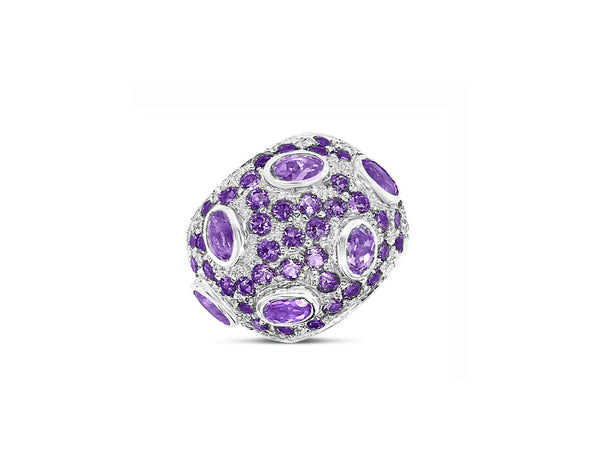 Monte Carlo Amethyst Pavé Statement Ring - Finnly's