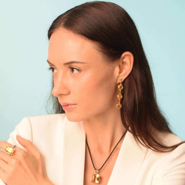 Barcelona Citrine Drop Earrings