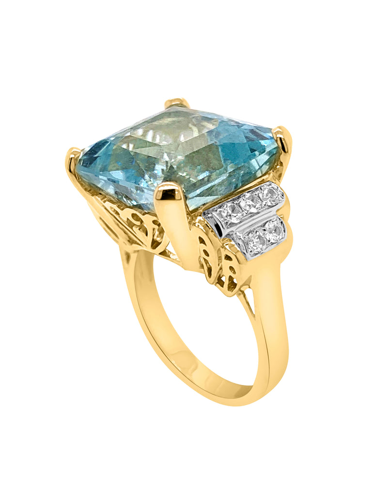 Aquamarine Vintage Ring - Finnly's
