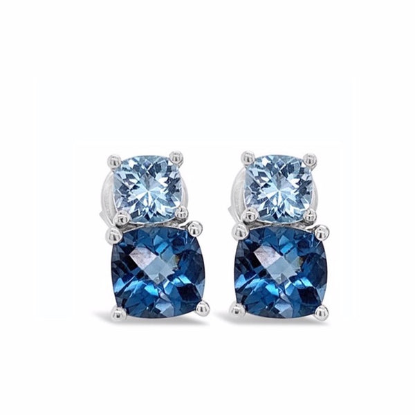Barcelona Blue Topaz Earrings - Finnly's