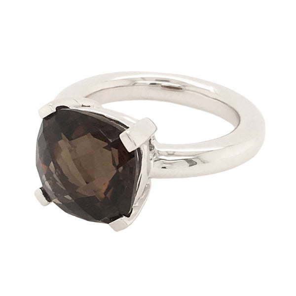 Barcelona Smokey Quartz Solitaire