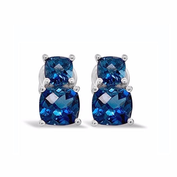 Barcelona London Blue Topaz Earrings - Finnly's