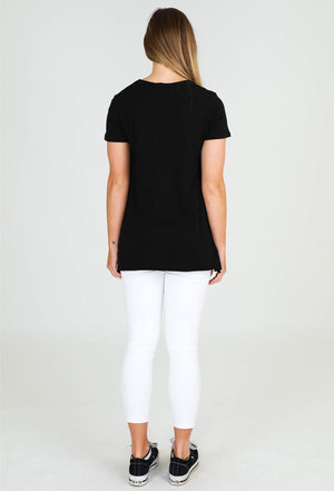 Load image into Gallery viewer, Brighton short sleeve tee black 3rd story