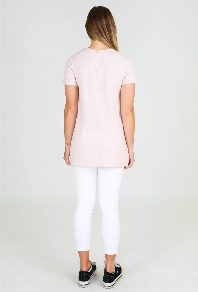 Brighton short sleeve tee blush marle 3rd story