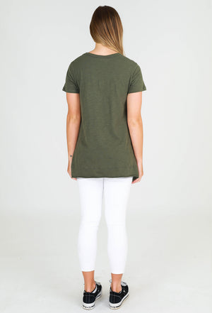 Load image into Gallery viewer, Brighton short sleeve tee khaki 3rd story