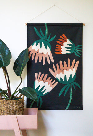 Load image into Gallery viewer, Fuchsia Midi fabric wall hanging