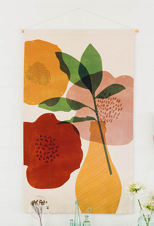 Bloom Large Fabric Wall Hanging