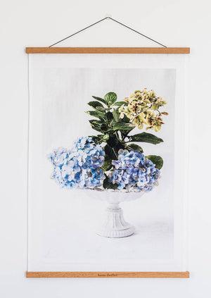 Load image into Gallery viewer, Hydrangea Art Tea Towel + Hanger Set
