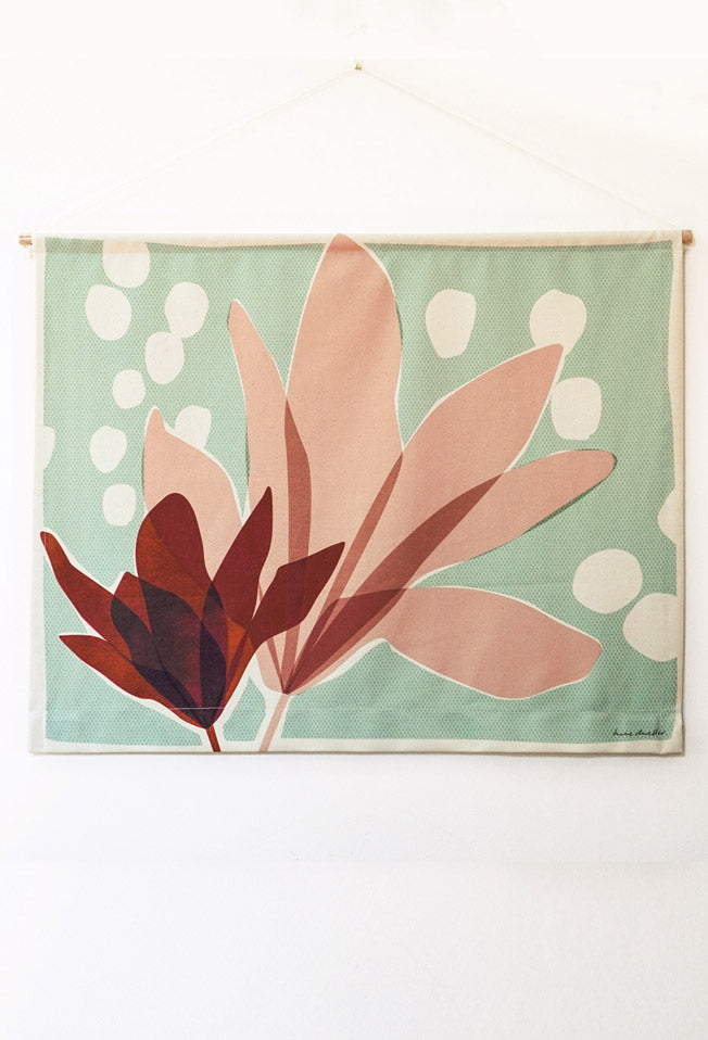 magnolia midi fabric wall hanging
