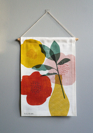 Blush Mustard Bloom Mini Wall Hanging
