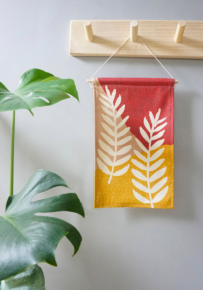 Fern Mini Wall Hanging Blush Mustard
