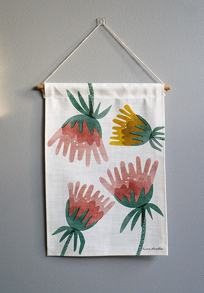fuchsia mini wall hanging