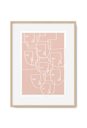 Load image into Gallery viewer, Maiko Nagao Calm Pink Art print