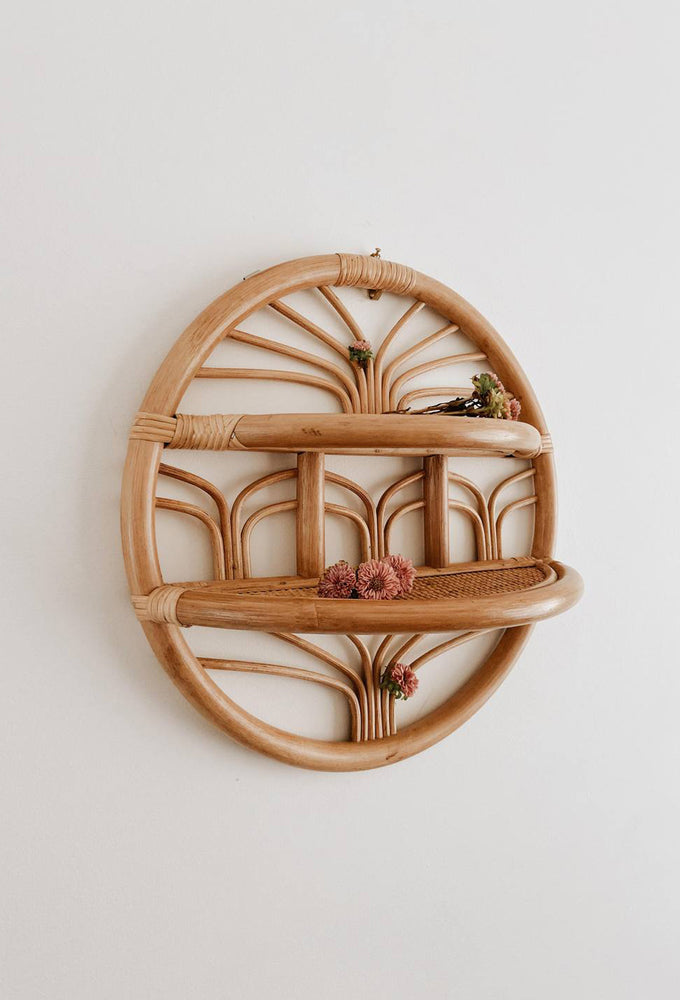 summer round shelf oak studios