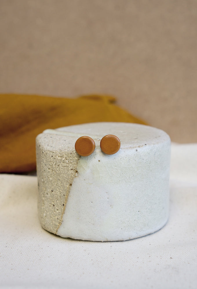 Tan Ceramic Stud - Small