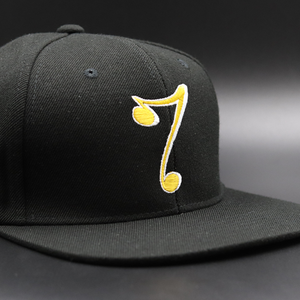 7 Snapback White Shadow - Black