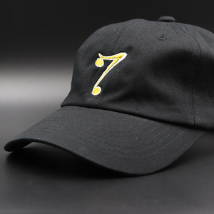 7 Dad Hat White Shadow - black