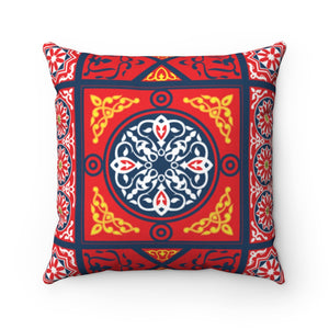 Arabic pattern  Pillow, Art Silk Throws For Bed Sofa Cushion Damask Pattern Modern Style Home Decor Cushion Cover