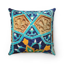 Arabic mosaic Spun Polyester Square Pillow, sofa pillows, boho decor, bohemian pillow, oriental pillows