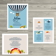 Custom child name Islamic Art print Nursery Decor Child Ayatul Kursi, Protection Dua, 4 Quls in english & arabic, AIR BALLON THEME