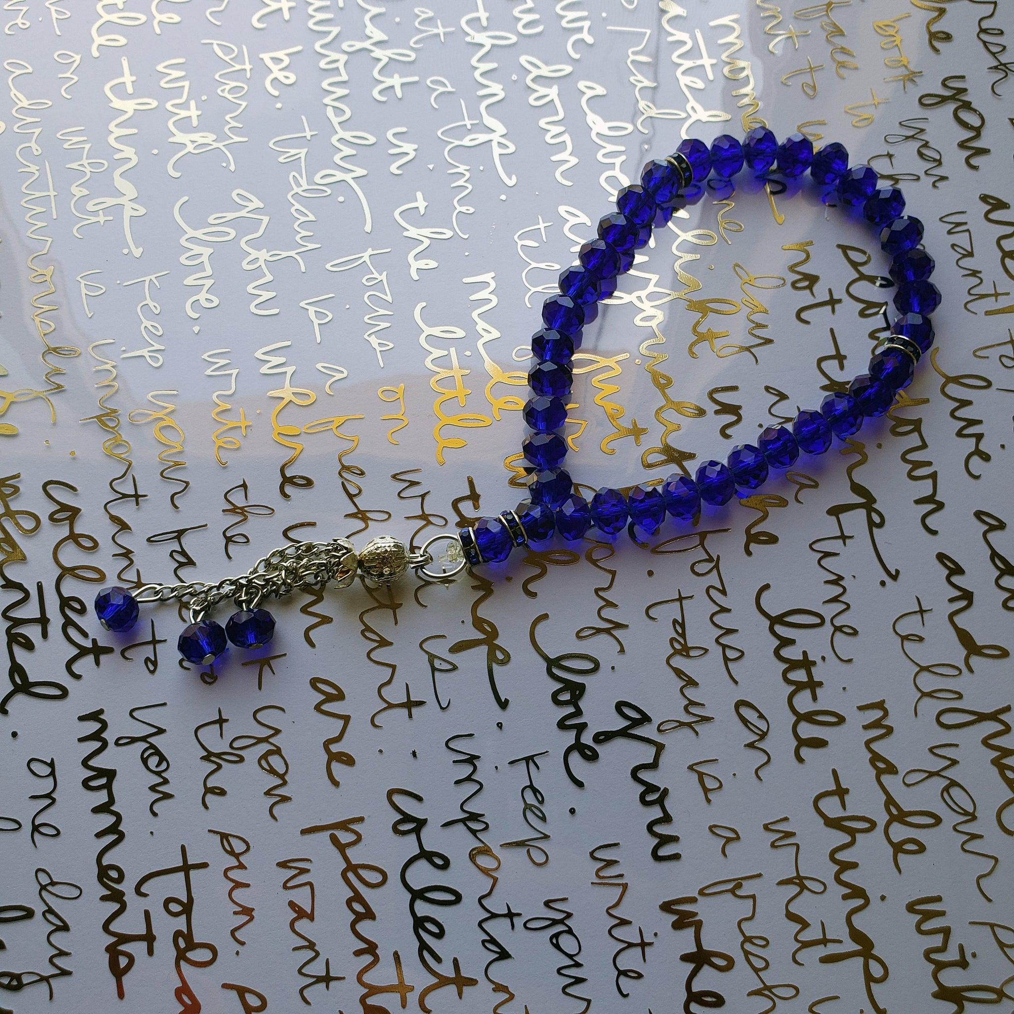 Royal blue Tasbih Prayer Beads with 33 Beads - Muslim prayer beads -Subha - misbaha – prayer - worry beads - Islamic prayer beads