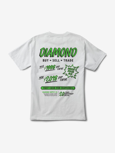 Cash for Diamonds Tee - White