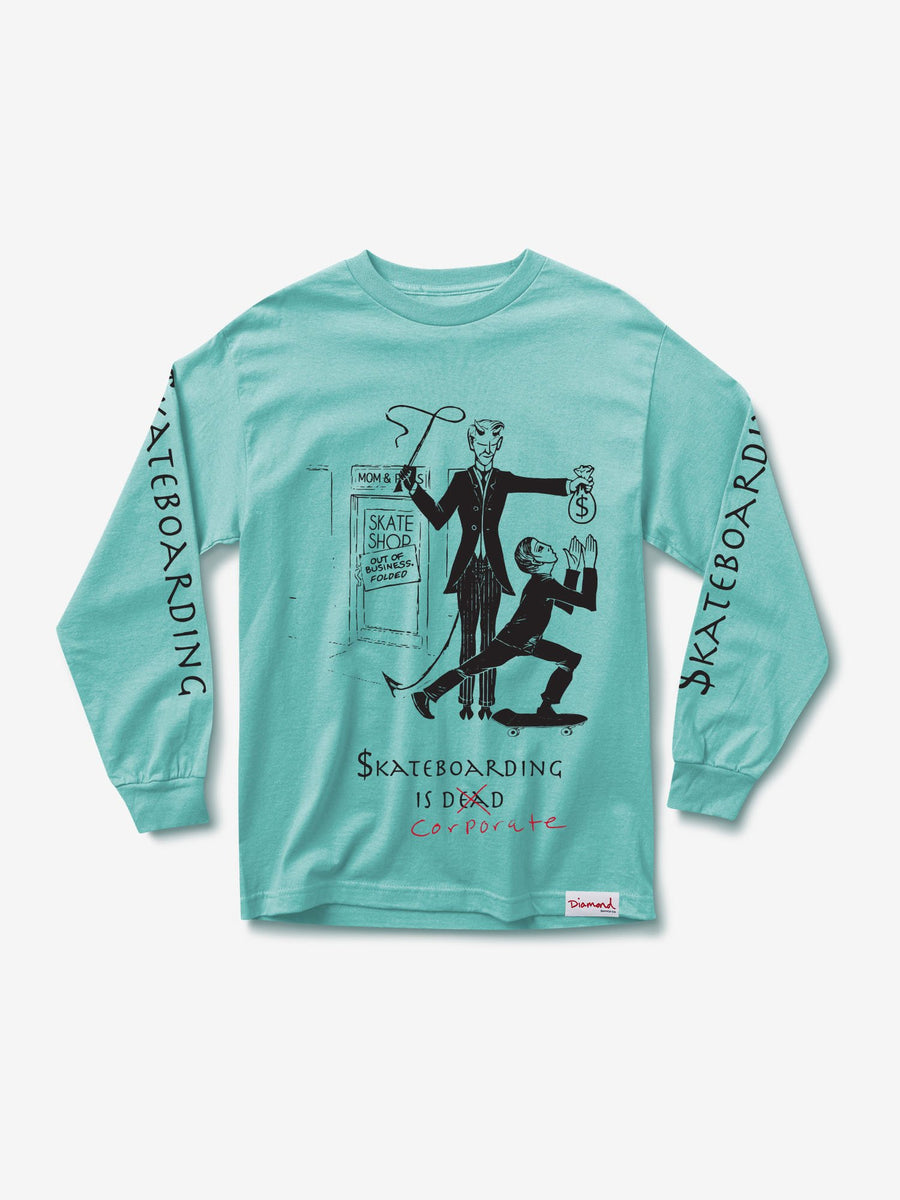 Skate Crime Longsleeve - Diamond Blue
