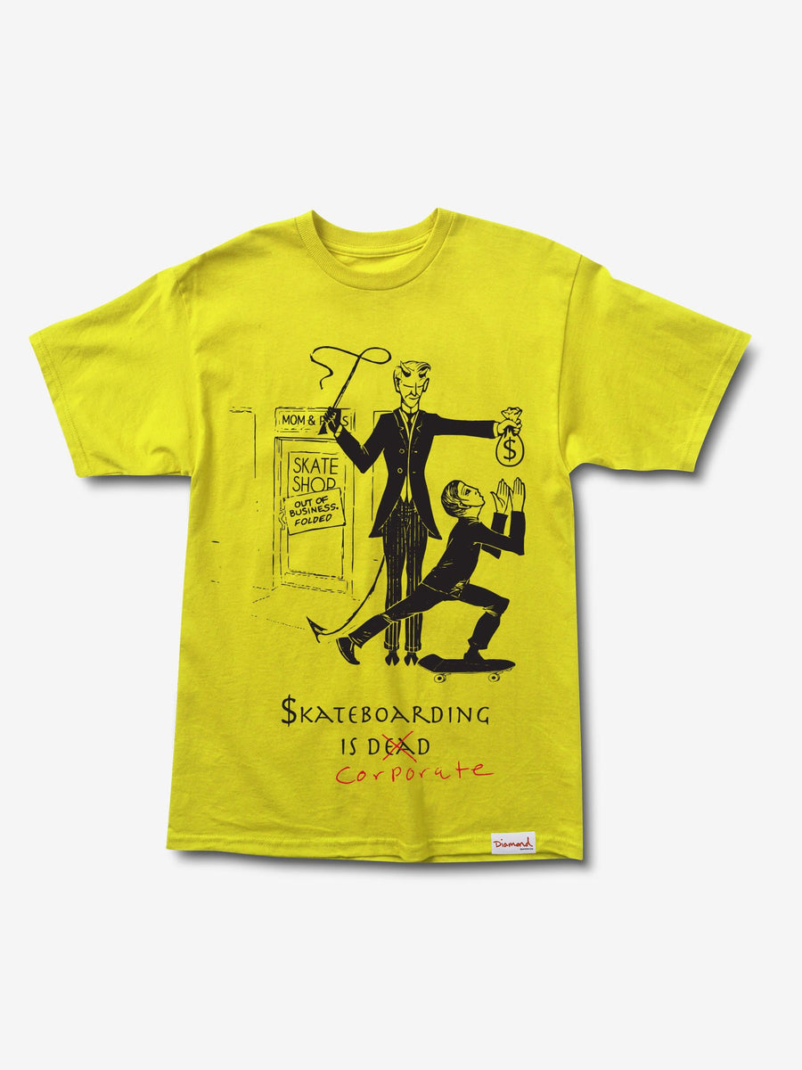 Skate Crime Tee - Yellow