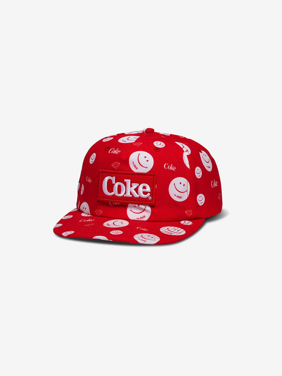 Diamond x Coca Cola Smiley Snapback Red