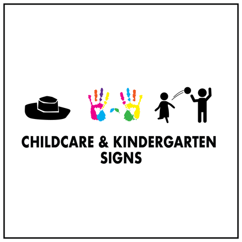 Childcare and Kindergarten Signs