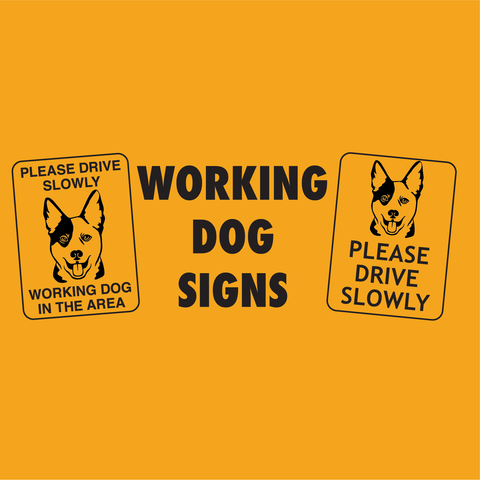 Working Dog Signs