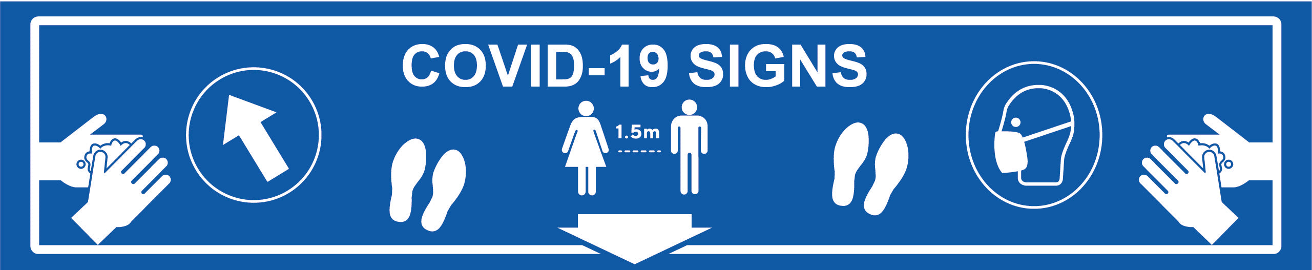 Covid-19 Face Mask signs