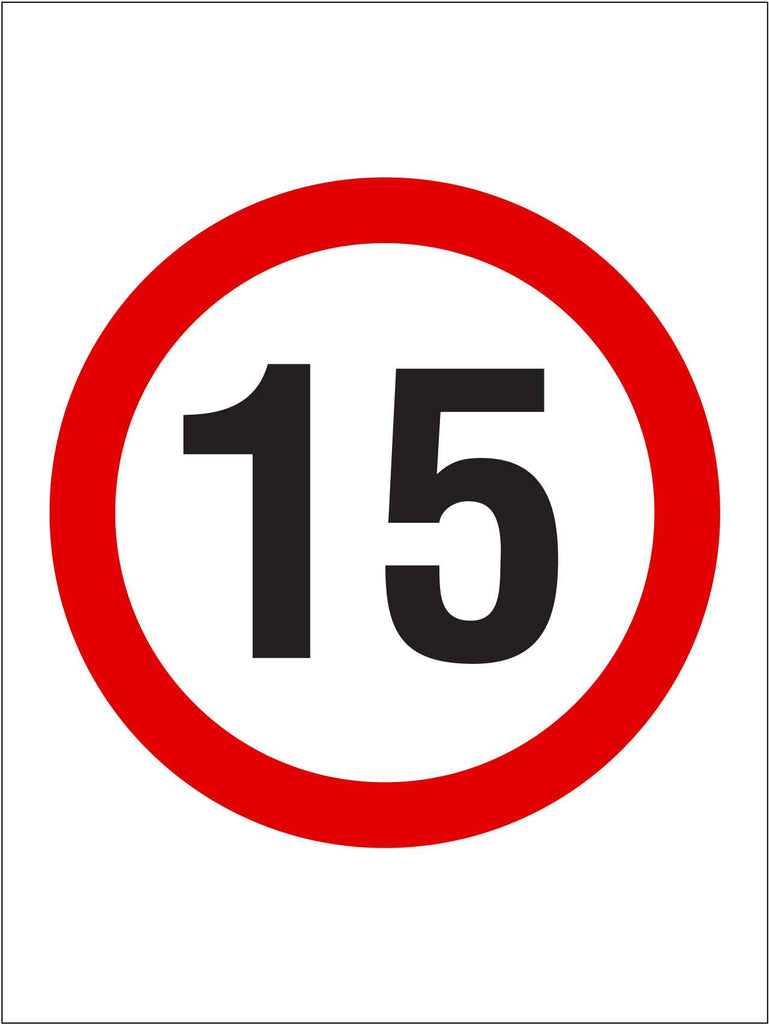 15km Speed Sign