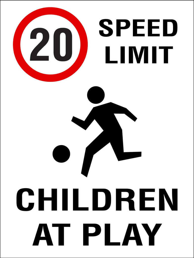 20km Speed Limit Children At Play Sign