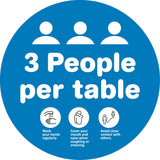 3 People Per Table Decal