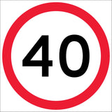 40km Multi Message Reflective Traffic Sign