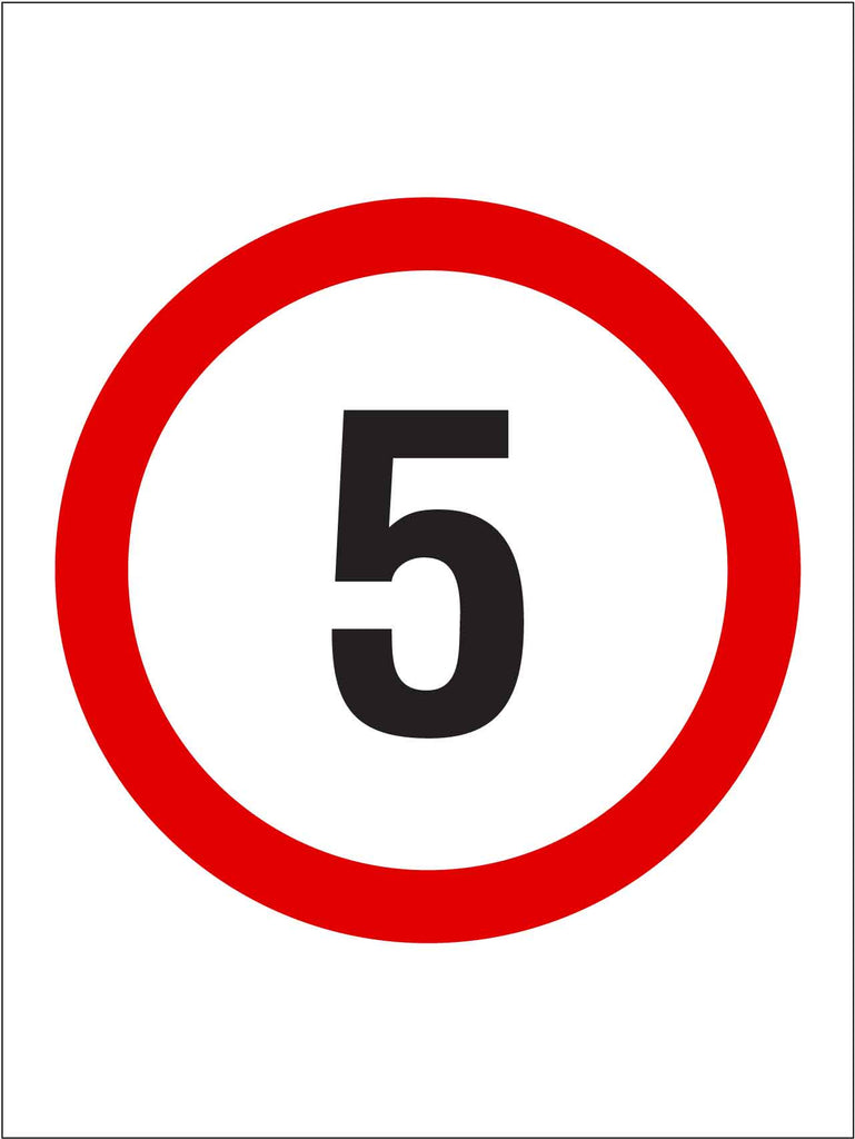 5km Speed Sign