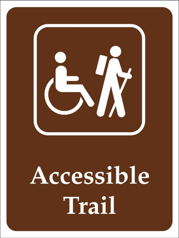 Accessible Trail Campground Sign
