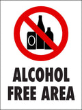 Alcohol Free Area Sign