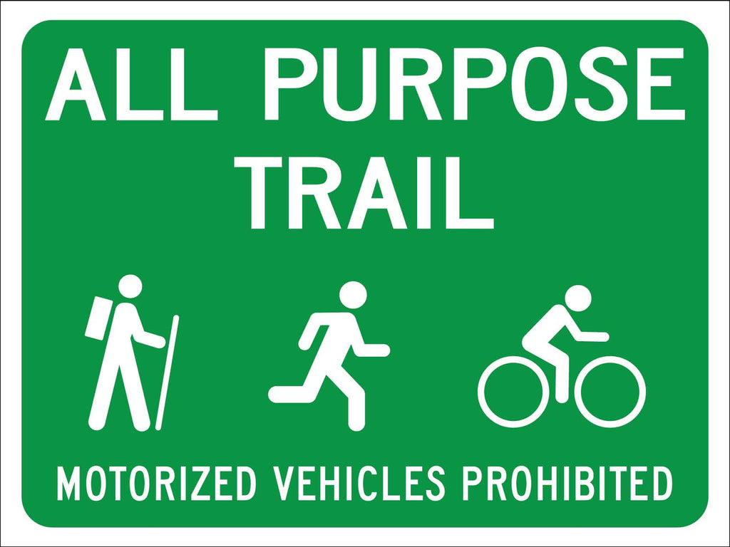 All Purpose Vehicles Prohibited Sign