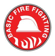 BASIC FIRE FIGHTING Hard Hat Stickers