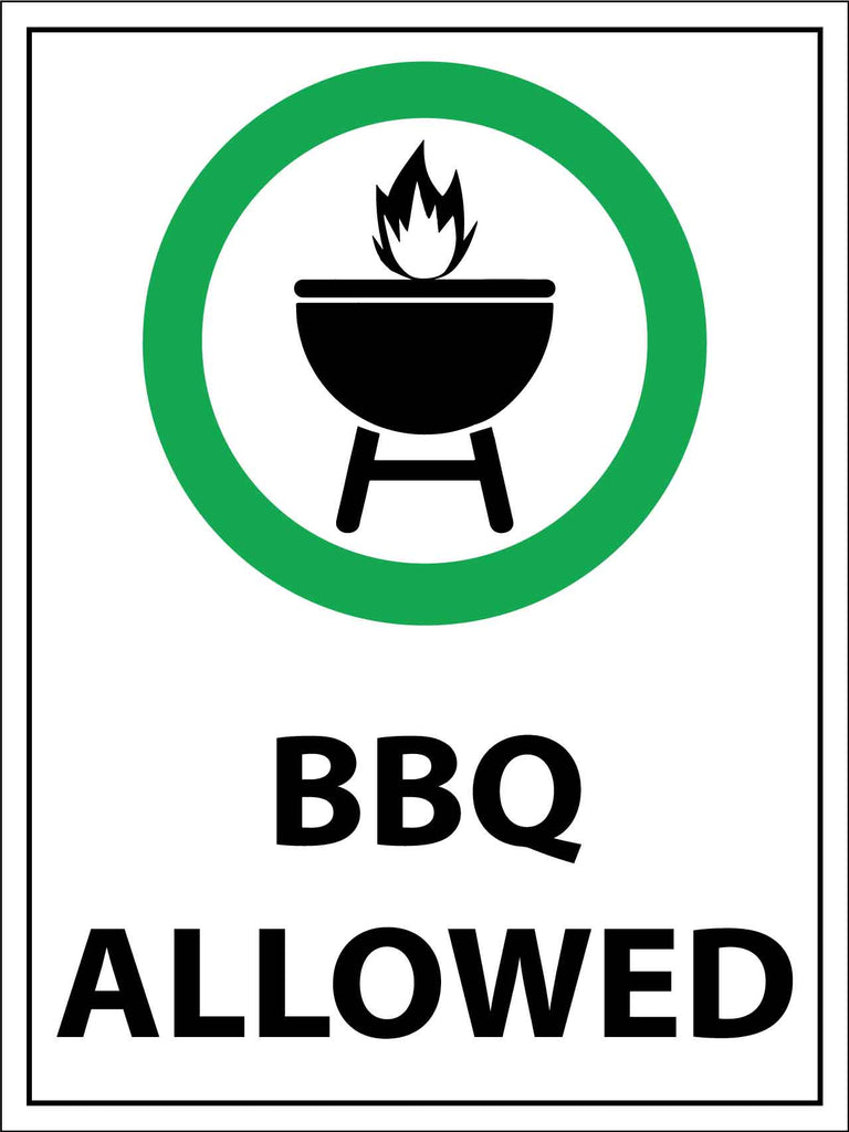 BBQ Allowed Sign