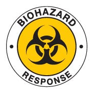 BIOHAZARD RESPONSE Hard Hat Stickers
