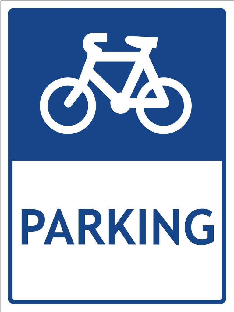Bike Parking Symbol Sign