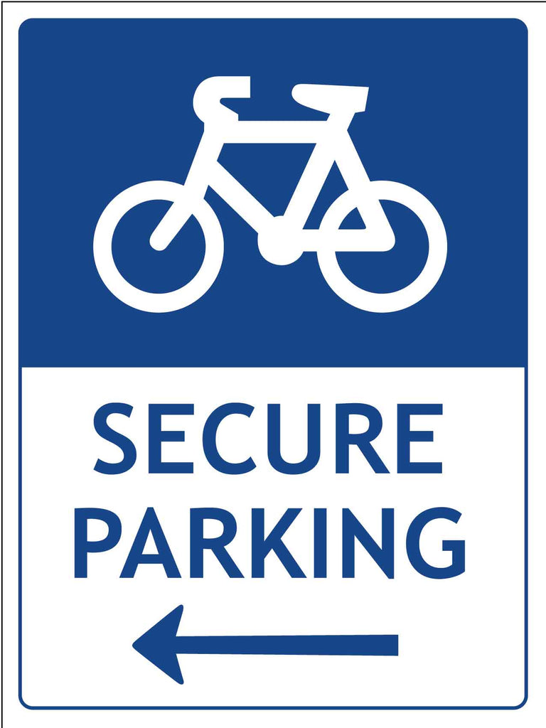 Bike Secure Parking Sign