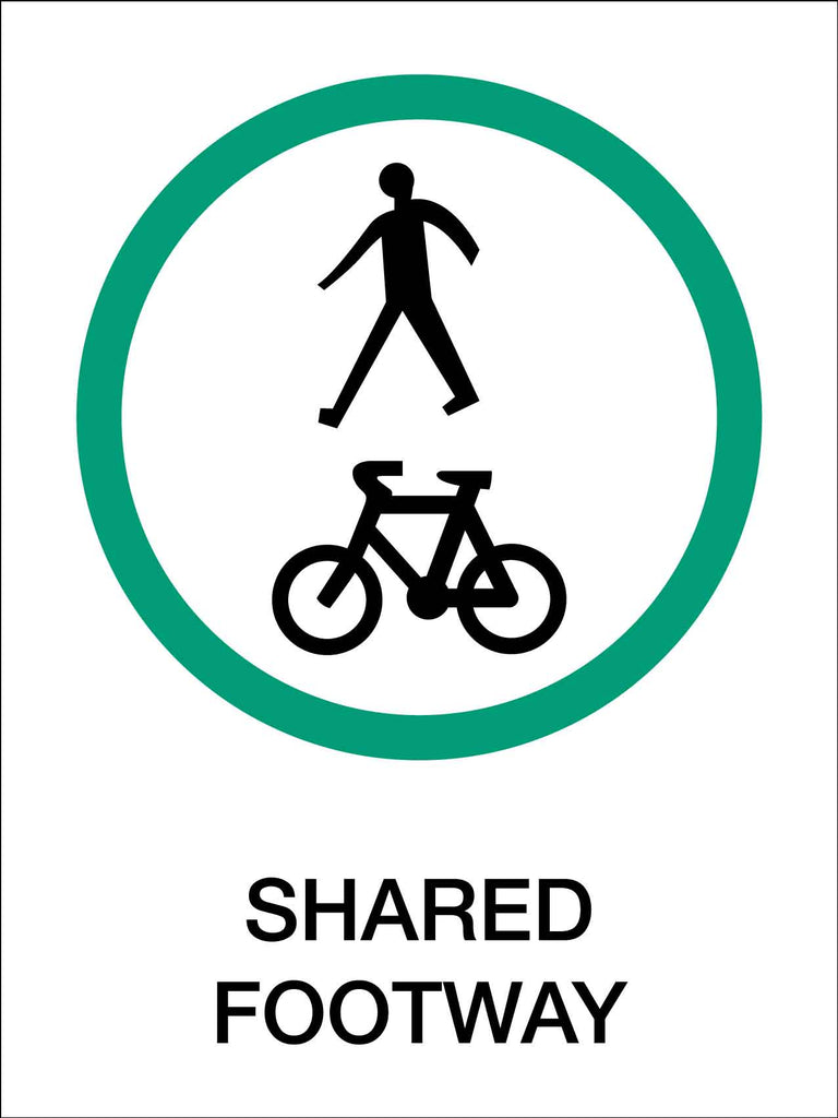 Bike Shared Footpaths Sign