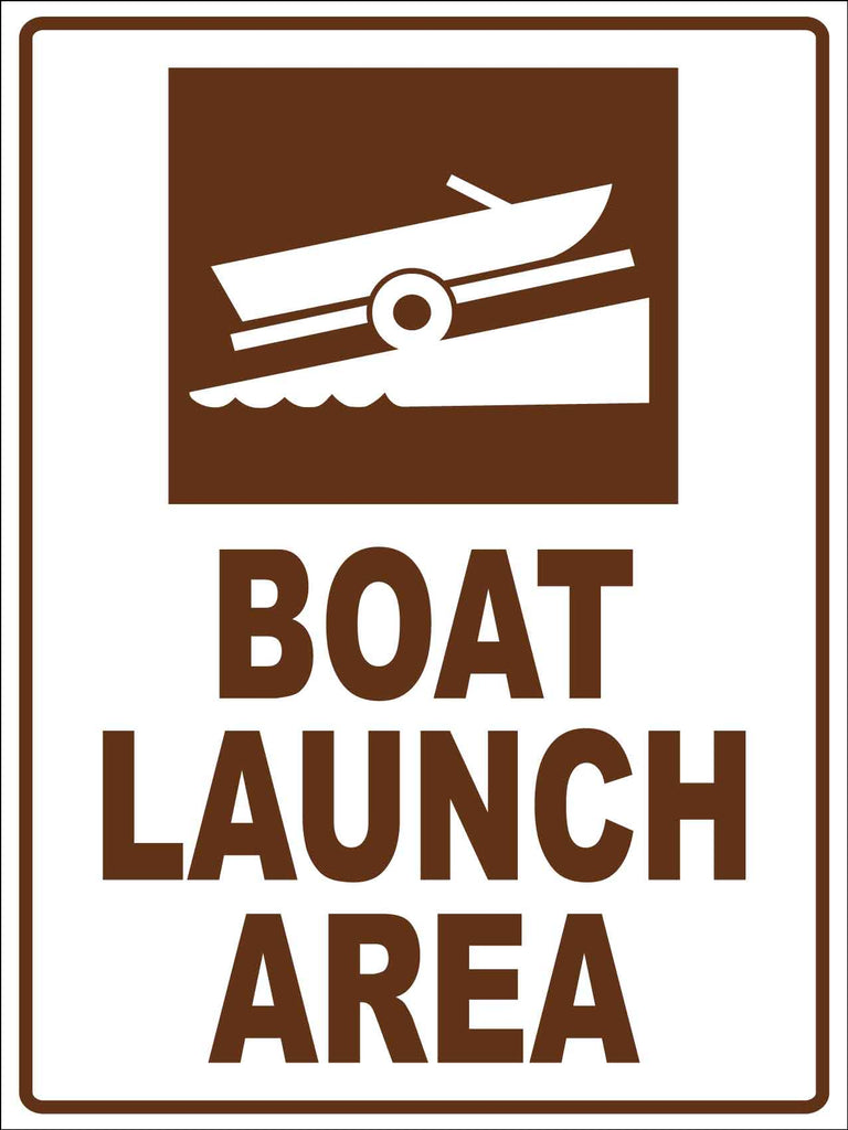 Boat Launch Area Sign