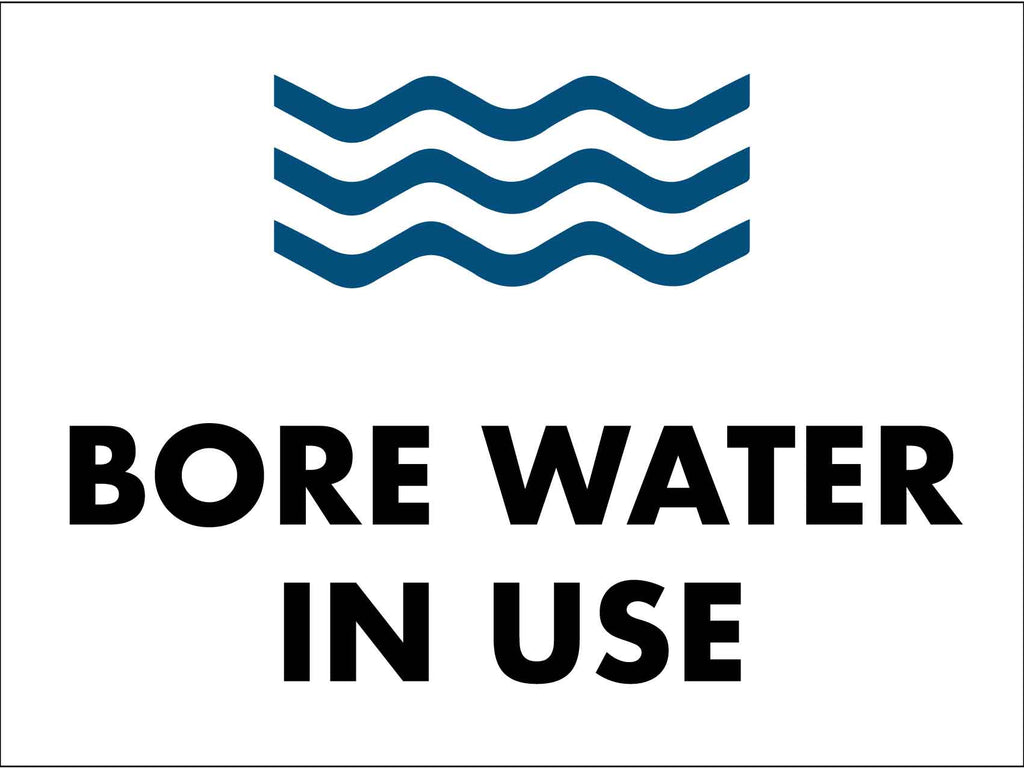 Bore Water In Use - Waves Sign