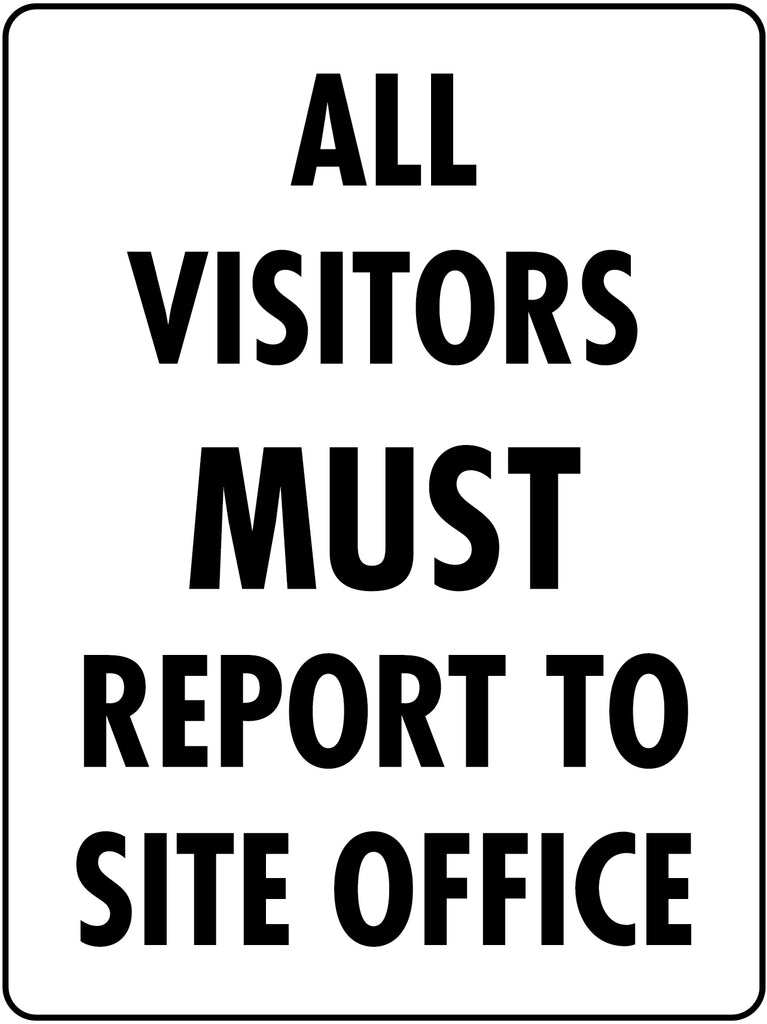 Visitors Report To Site Office