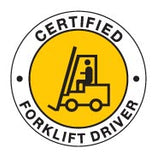 CERTIFIED FORKLIFT DRIVER Hard Hat Stickers